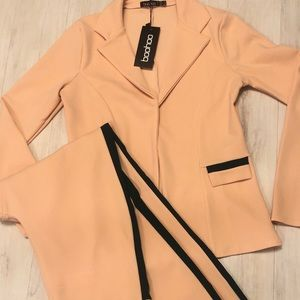 NWT Pink and Hunter Green Suit